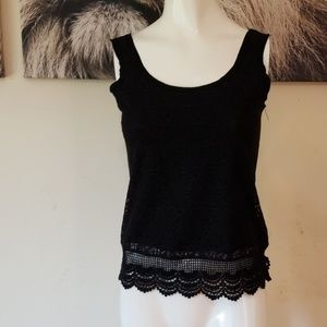 3/$24💟MOSSIMO Lace Crochet Trim Tank Top